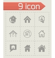 home icons set vector image vector image