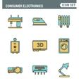 icons line set premium quality home appliances vector image vector image
