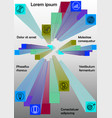 infographics template with group of colored prisms vector image