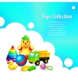 Kids toys composition vector image vector image