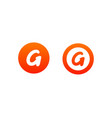 letter g logo design in orange color vector image vector image