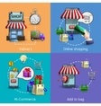 M-commerce Icons Set vector image vector image