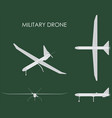 military drone colored vector image vector image