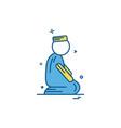 muslim prayer icon design vector image vector image