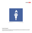 olympic torch icon - blue photo frame vector image