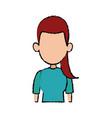 portrait female woman avatar people vector image vector image