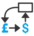 Pound Dollar Flow Chart Flat Icon Symbol vector image vector image