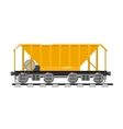 Railway wagon isolated on white background vector image vector image