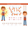 schoolboy parts of body template vector image