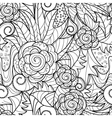 seamless herbal pattern vector image vector image