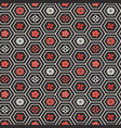 seamless pattern flower honeycomb cells vector image vector image