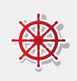 ship wheel sign new year reddish icon vector image vector image