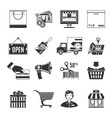 Shopping Black Icons Set vector image vector image