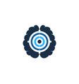 smart target logo icon design vector image vector image