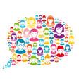 speech bubble avatars vector image