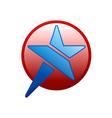 star round symbol logo vector image vector image