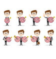 success man with a target concept business vector image vector image