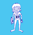 Super kid hero boy cartoon vector image vector image
