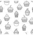 sweet pattern doodle seamless pattern with vector image vector image