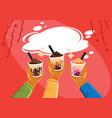 taiwan milk tea celebrate vector image