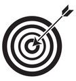 target and arrow icon vector image vector image