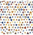 triangle colorful seamless pattern vector image vector image