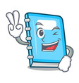 two finger education character cartoon style vector image