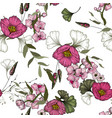 vintage background wallpaper blooming realistic vector image vector image