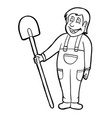 worker with smile vector image