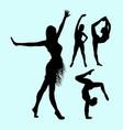 yoga sport attractive woman silhouette