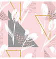abstract floral seamless pattern tulips trendy vector image vector image