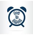 alarm clock school icon vector image