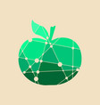 an apple multicolor vector image