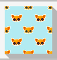 Animal seamless pattern collection with fox 1 vector image vector image
