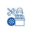 auto mechanicbattery line icon concept auto vector image vector image
