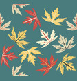 autumn leaves pattern vector image vector image