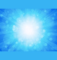 blue brightly winter background with rays vector image vector image