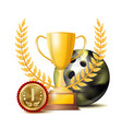bowing achievement award sport banner vector image vector image