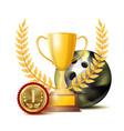 bowing achievement award sport banner vector image