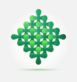 Bright green creative technology icon - abstract vector image