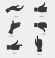 Business hand icon vector image vector image
