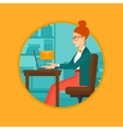 Business woman receiving or sending email vector image vector image