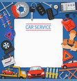 car service banner and frame vector image
