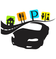 car travel services vector image vector image