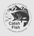catch fish symbol vector image vector image