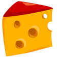 Cheese food object vector image