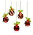 christmas balls template vector image