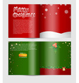christmas card with text space vector image vector image