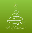 christmas tree card template isolated design vector image