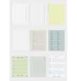 Collection of various paper vector image vector image
